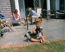 John F. Kennedy Jr. plays with dog In Hyannis Port summer 1963 New 8x10 Photo