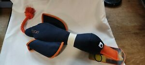 XLarge Throwing Duck Dog Toy. Well Stuffed, Squeaker. Rope & Canvas. 60 cm