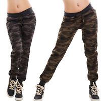 Pantaloni donna tuta elastico mimetici militari camouflage camo nuovi CX-197