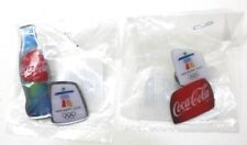 Coca Cola Vancouver 2010 Olympic Collector Pins Set Of 2 New In Plastic