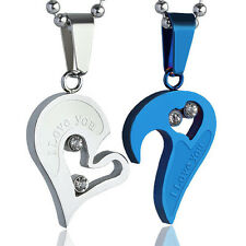 New Men Women Couple I Love You Heart Pendant Chain Necklace For Valentine's Day