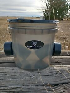Chicken Smart Feeder Large Capacity Easy to Use Weather Proof Transparent Grey