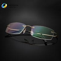 Rimless Titanium Alloy Reading Glasses UV400 Coating Lens Reader  +0.00 ~+5.00