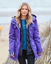 Ladies Snowdonia Padded 3 In 1 wind and waterproof Jacket violet black size 14