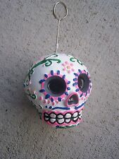 Day of the Dead Painted Resin Skull Photo Holder and Balloon Weight