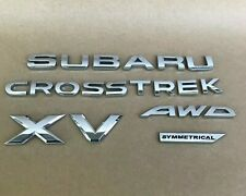 OEM 2013 2014 2015 Subaru Crosstrek XV AWD Symmetrical Rear Emblem Nameplate Set