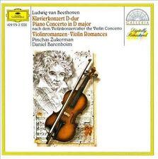 Beethoven: Piano Concerto in D major; Violin Romances (CD, Nov-1989, Deutsche...