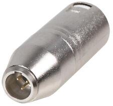 PC2016 XLR male plug to Mini XLR male plug adaptor connector