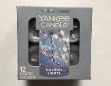 YANKEE CANDLE HOLIDAY LIGHTS TEA LIGHTS BOX OF 12 NEW SCENT HOLIDAY 2018