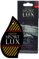Areon Sport LUX Quality Perfume/Cologne Cardboard Car Air Freshener, Silver
