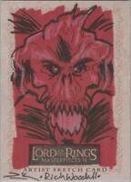 """Lord of the Rings Masterpieces II - Rich Woodall """"Balrog"""" Sketch Card"""