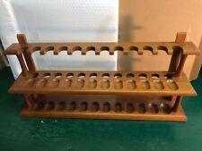 Vintage Wall Mount Pipe Display Rack Holder Wood 24 Slots Decatur Inc.