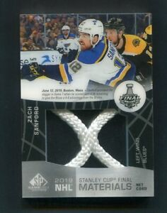 2019-20 SP Game Used Zach Sanford Stanley Cup Finals Net Cord /25 Blues