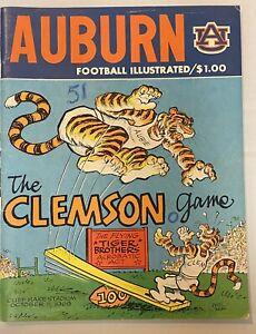 1969 Auburn vs Clemson Football Program Phil Neel