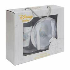 Disney Baby Dumbo Kids 5 Piece Melamine Dinnerware Plate Bowl Cup Cutlery Set