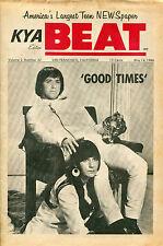 KYA Beat Magazine Vol.2 No.42 1966 Sonny & Cher Jeff Beck Bob Lind Mindbenders