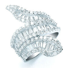 Snake Ring Sterling Silver Ring Rhodium Plated.