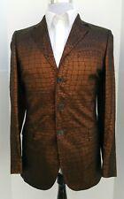 Jean Paul Gaultier Men's Bronze Copper Slim 1999/2000 Designer Jacket 38S