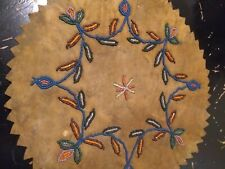 Northern Woodlands Whimsy Antique Native American Beaded Wall Hanging 1900