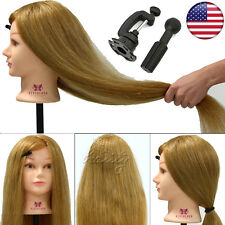 """Cosmetology Training Head,100% Real Human Hair, 26"""" Long Hairdressing Mannequin"""