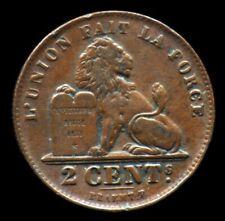 2 CENTIMES 1909 BELGIQUE / BELGIUM - 2 cents - LEOPOLD II Roi des Belges