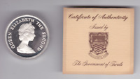1956-1981 Duke Edinburgh's Award 10 Dollars 1oz Silver Proof Coin Tuvalu $10