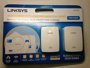 Linksys Wi-Fi Range Extender Pro N600 Dual Band -Two Pack (boost wifi signal)