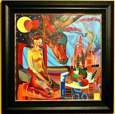 "Tadeo Zavaleta-""El Vistante""-ORIGINAL OIL Painting/Canvas/Framed/Signed/COA"