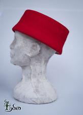 Medieval hat cap rabit velour felt Philip the Bold reenactment
