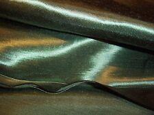 BOTTLE GREEN SATIN FABRIC SOFT FURNISHING MAN MADE 1.52 M X 2 METRES  NEW ITEM!