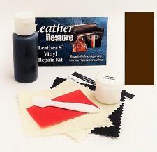 Air Dry Leather & Vinyl Repair Kit DARK BROWN Color Repair Recolor & Restore