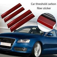 4Pcs 3D Carbon Fiber Car Threshold Protection Sticker Friction Anti V2O3