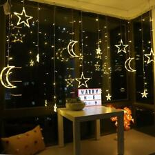 Star LED Christmas Lights Battery Operated Hanging Window Light  Warm White