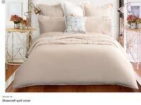 Sheridan Luxury 600 TC 100% Cotton Sateen Kingsize Duvet Cover Birch RRP £159