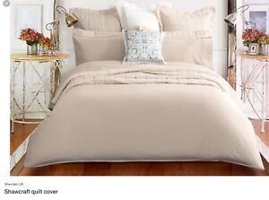 Sheridan Luxury 600 TC 100% Cotton Sateen Single Duvet Cover Birch RRP £109