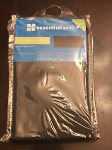 Essential Home  Body Pillow Cover Pillowcase -  Microfiber Gray