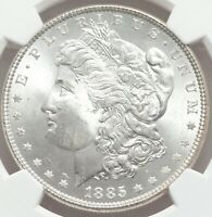 1885 Morgan Silver Dollars NGC Certified MS65 GEM QUALITY BLEACHED OUT SUNSHINE