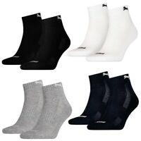 12 Paar Puma Quarter Socken Frottee-Sohle Gr. 35-46 Unisex Cushioned Kurzsocken