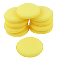 10 Pcs Round Shaped 4 inch Dia Sponge Wax Applicator Pads Yellow C3G8 P0Y7