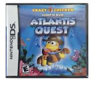 Crazy Chicken: Atlantis Quest  (Nintendo DS, 2009) new