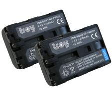 2x TROY Akku für SONY NP-FM55H A100 Alpha 100 DSC-F707 F717 S50 S70 S85 GV-D1000