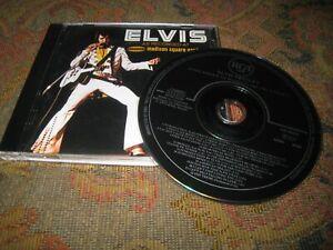 ELVIS PRESLEY AT MADISON SQUARE GARDEN USED 1972 REMASTERED GERMAN CD ALBUM.