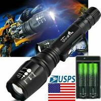 Ultrafire 50000LM T6 Zoomable LED Flashlight Torch Lamps 18650 battery &Charger☆