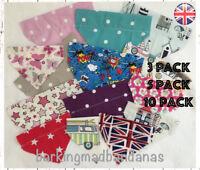 Pack of 3, 5 or 10 Dog Bandanas, Handmade UK Neckerchief, Slide on Collar Cheap