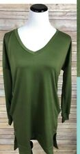 Piphany Honey & Lace Highland Sweater Olive Green S $40 NWT
