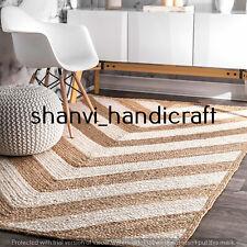 Rectangle Jute Rug Hand Woven Braided 2x3 Feet Area Rugs Natural Jute Rug Carpet