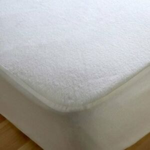 Waterproof Terry Mattress Protector & Free Pillow Protectors Cotton Blend