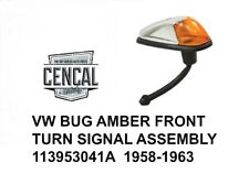 VW BUG AMBER FRONT TURN SIGNAL ASSEMBLY 113953041A  1958-1963