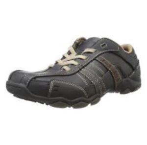 Skechers Men Sz 10 Diameter Vassell Sneakers Casual Leather 62607 Black Brown