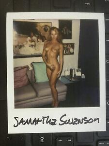 Samantha  sexy original vintage casting audition Polaroid headshot photo. Risque